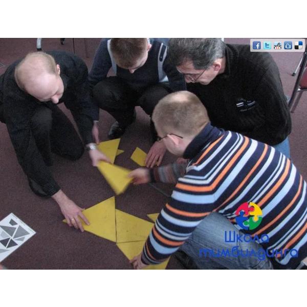 Игра Мега Танграм на развитие понимания в команде между участниками
