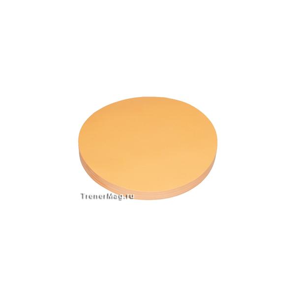 Клеевые модерационные карты Круг 14 см Оранжевые для работы ведущих