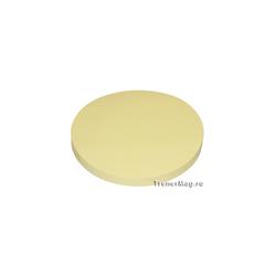Клеевые модерационные карты Круг 14 см Жёлтые
