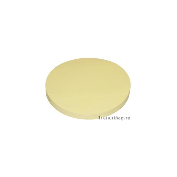 Клеевые модерационные карты Круг 14 см Жёлтые для работы руководителей