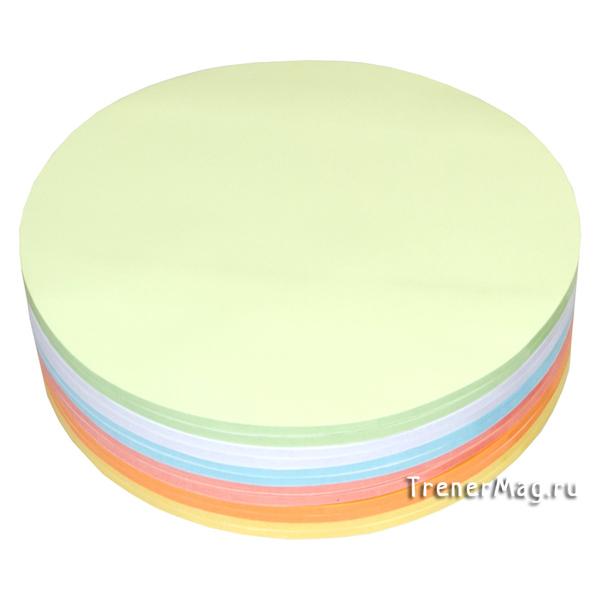 Клеевые модерационные карты Круг 19,5 см (разноцветные) для преподавателей