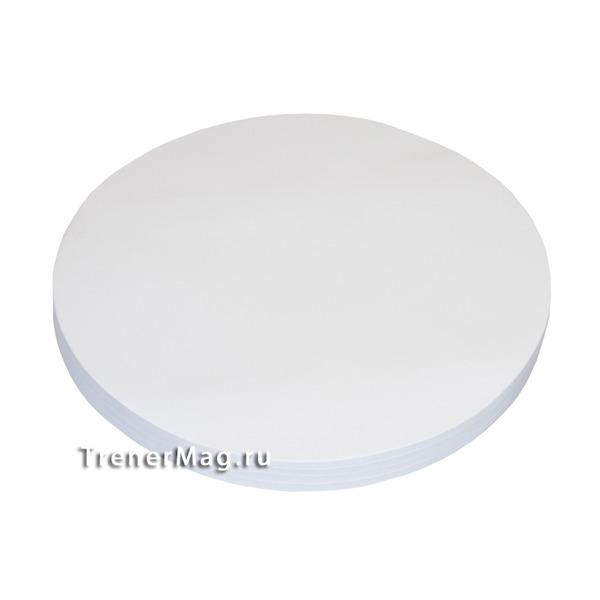 Клеевые модерационные карты Круг 19,5 см Белые для тренеров
