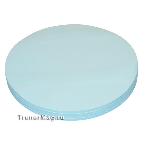 Клеевые модерационные карты Круг 19,5 см Синие для бизнес-тренеров