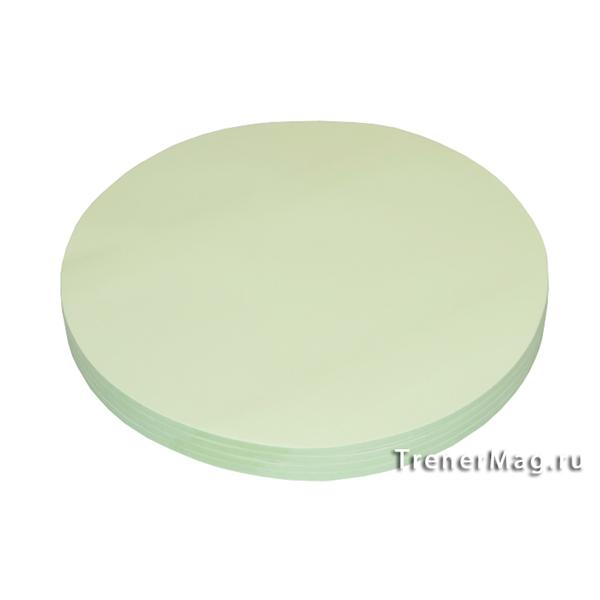 Клеевые модерационные карты Круг 19,5 см Зелёные для учителей - в магазине ТренерМаг