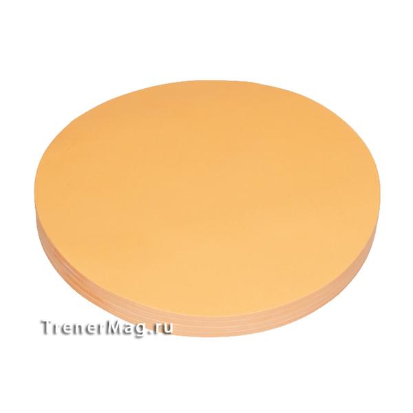 Клеевые модерационные карты Круг 19,5 см Оранжевые для бизнес тренеров