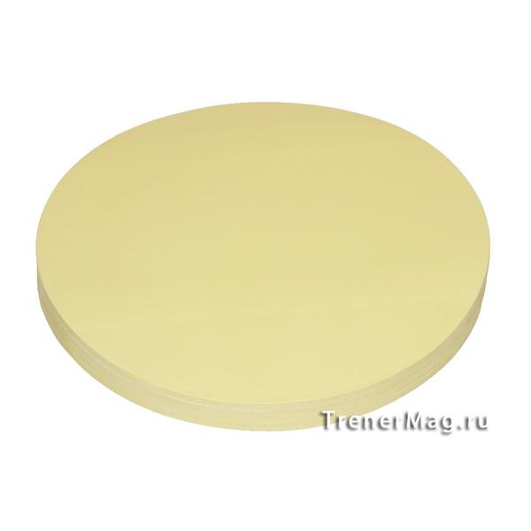 Клеевые модерационные карты Круг 19,5 см Жёлтые для модераторов