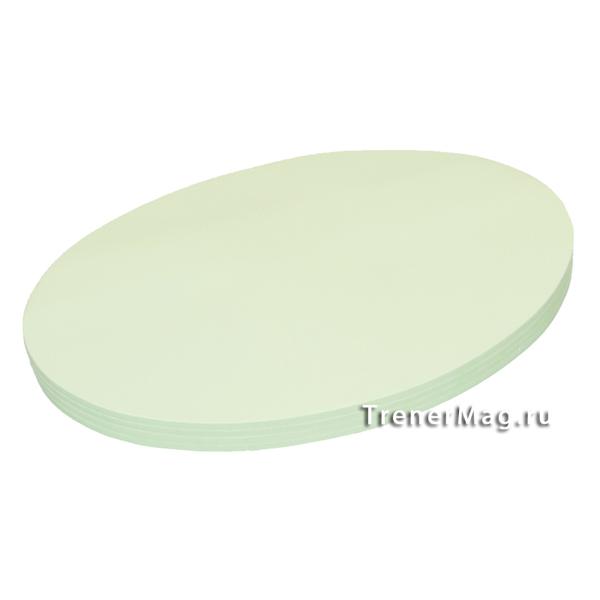 Клеевые модерационные карты Овалы 19х11см Зелёные для модерации