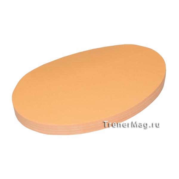 Клеевые модерационные карты Овалы 19х11см Оранжевые для фасилитации