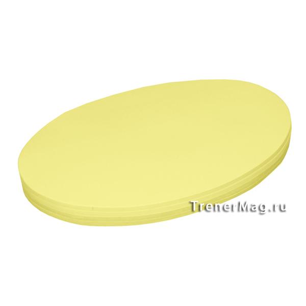 Клеевые модерационные карты Овалы 19х11см Жёлтые для занятий с учащимися