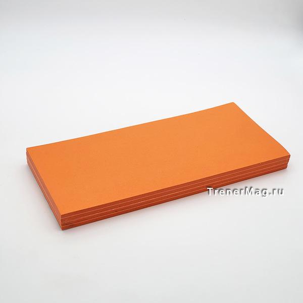 Клеевые модерационные карты Прямоугольные Оранжевые для эксперта