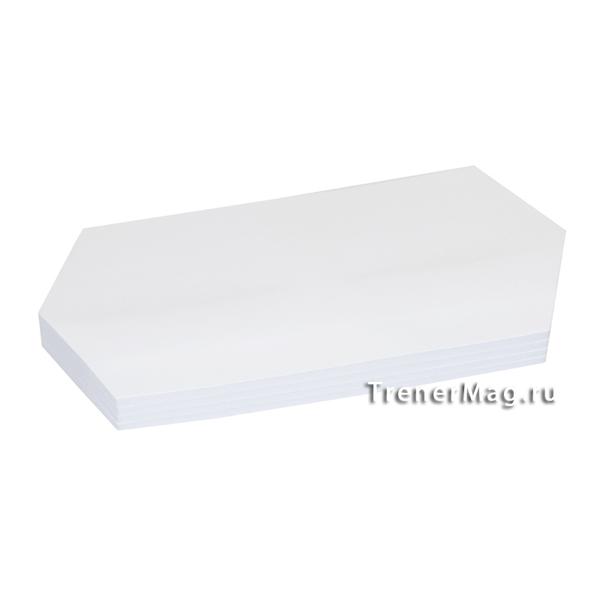 Клеевые модерационные карты Ромбы 9,5х20,5см Белые для фасилитационной сессии