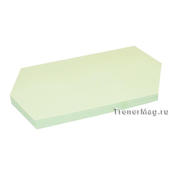 Клеевые модерационные карты Ромбы 9,5х20,5см Зелёные для обратной связи