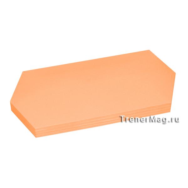 Клеевые модерационные карты Ромбы 9,5х20,5см Оранжевые для фасилитационной сессии