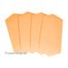 Клеевые модерационные карты Ромбы 9,5х20,5см Оранжевые 2 для