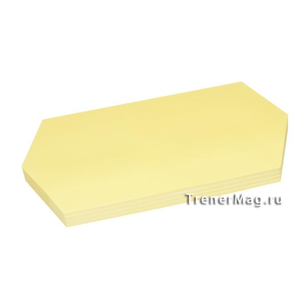 Клеевые модерационные карты Ромбы 9,5х20,5см Жёлтые для закрепления материала