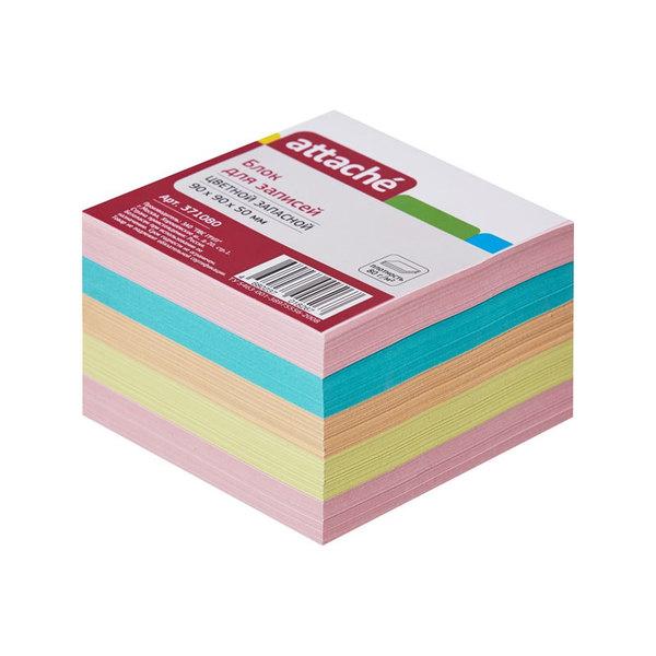 Блок-кубик Attache для записей (9х9х5 см, разноцветный) для работы докладчика