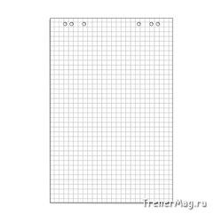 Бумага для флипчартов белая в клетку от 10л. (67,5х98см)