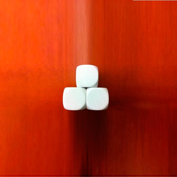 """Игральный кубик Акриловый (""""пустой"""", большой, 30мм) для применения на совещаниях"""