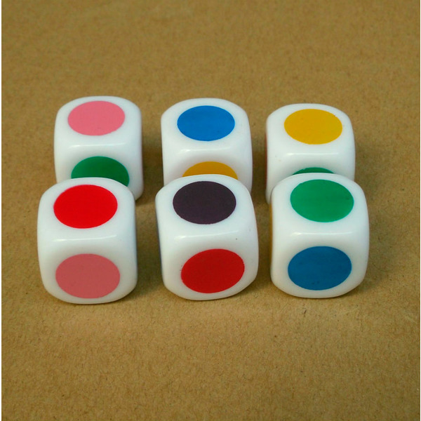 применение Кубик игральный Цветной (стандартный, 16мм) на стратсессии
