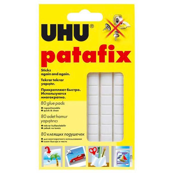 Клеящая масса UHU для неровных поверхностей 80шт. для приклеивания флипчарт бумаги к аудиторным стенам