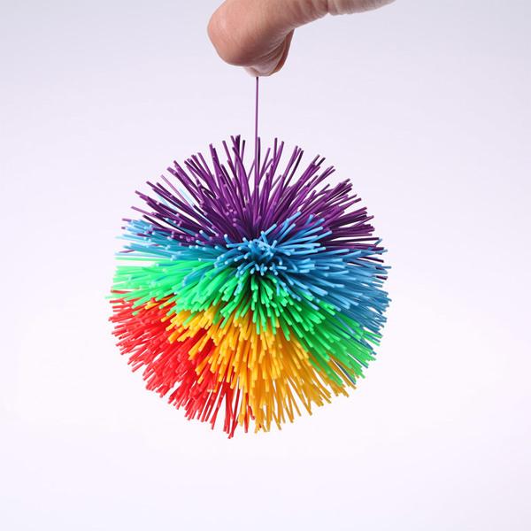 Куш-болл мяч 9 см (радужный, Koosh Ball) для работы с участниками обучения