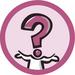 Фан стикеры Вопрос (36мм, в рулоне) для применении на форумах