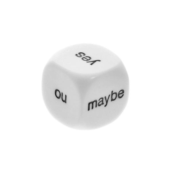Кубик гадальный Да Нет Может быть (16мм) для настольных игр и ведущих трансформационных игр