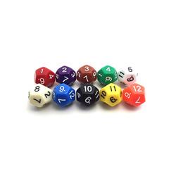 Игральный Двенадцать граней кубик (24мм)