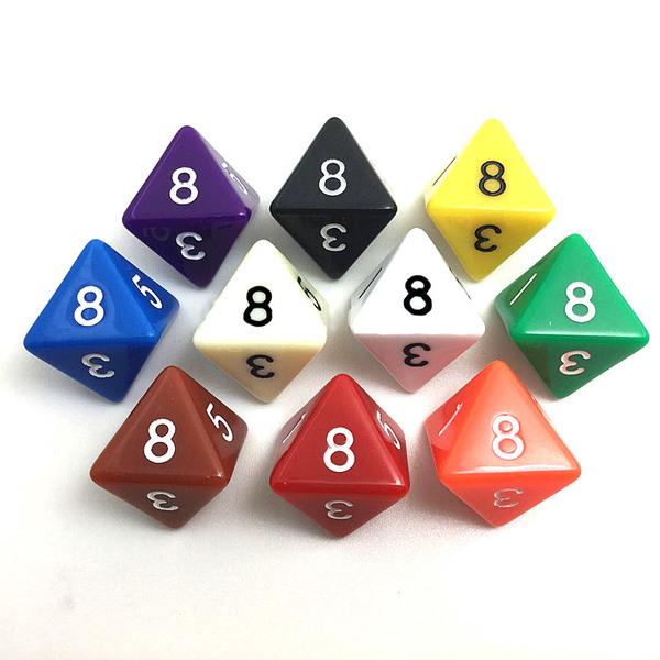 Игральный кубик 8 граней (D8, 18мм) для применения на форсайтах
