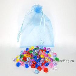 Мини кристаллы акриловые в наборе  (11х14мм, разноцвет, 135шт.)