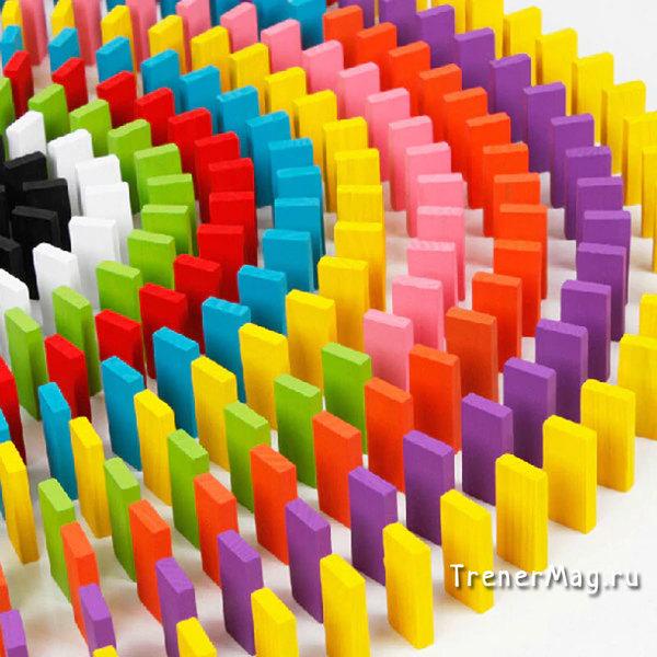 Разноцветное Домино для командной работы