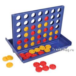 Игра Четыре в ряд (пластиковая 15х12см)