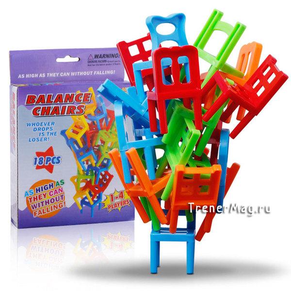 Командная фан игра со стульями Каланча для развития внимательности у сотрудников