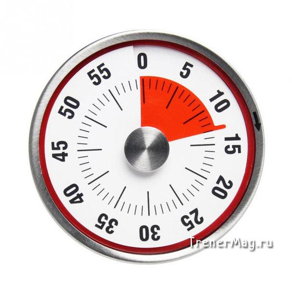 Таймер широкий красный (диаметр 8 см)
