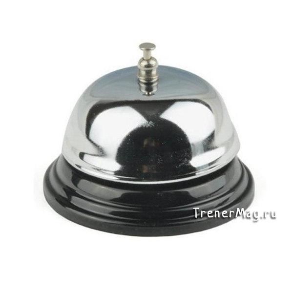 Звонок настольный металлический (хромированный) для ведущих игры