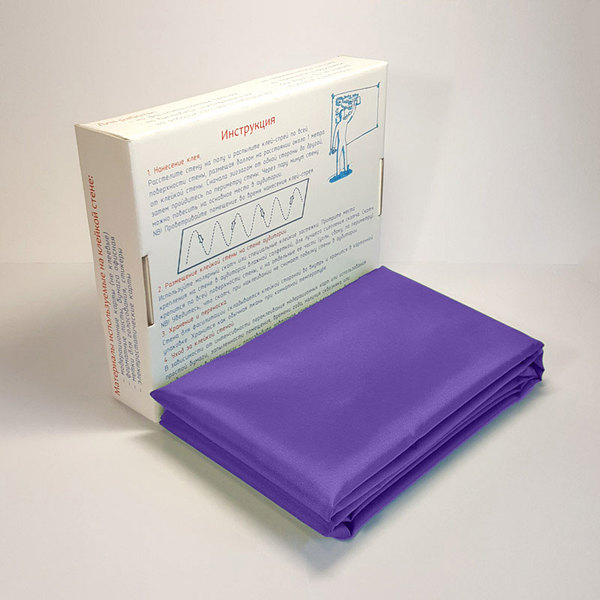 Липкая стена Classic для рабочих сессий Фиолетовая размером в ширину 1,5 м и в длину от 1 до 10-ти метров