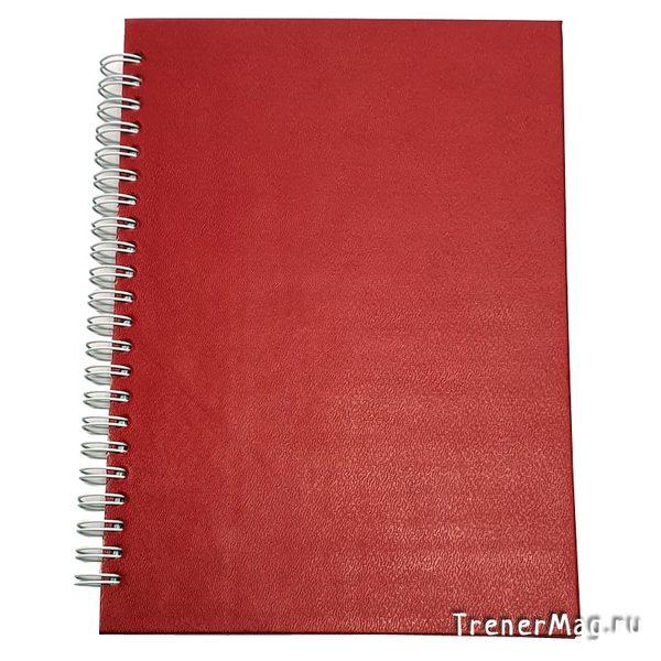Красный блокнот (на пружине, 100л.) для модератора и записей гениальных мыслей