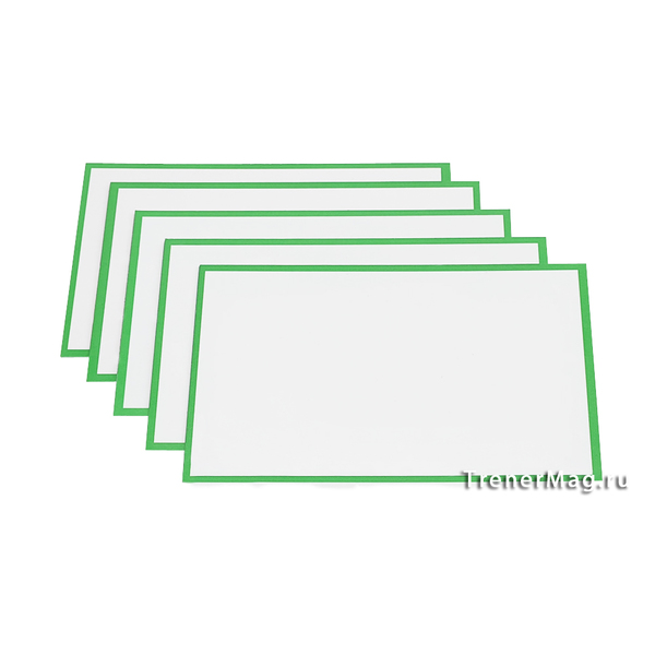 Зеленые карточки магнитные для Scrum команд для