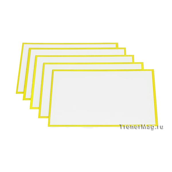 Желтые карточки магнитные для Scrum команд для