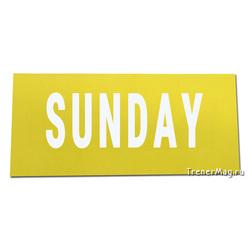 Магнитный заголовок Sunday