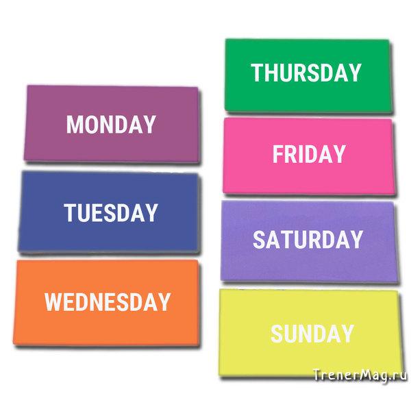 Заголовки магнитные WEEK для белой доски для визуального планирования