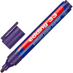 Маркер перманентный пигментный Еdding E-33 фиолетовый (клин, 1,5-3 мм)