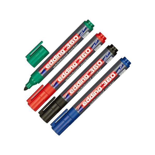Маркер Edding 363 для белой доски цветной (клин, 1-5мм)  со скошенных стержнем и ровной линией написания