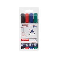 Набор маркеров для белой доски Edding 363  4цв. (клин, 1-5мм)
