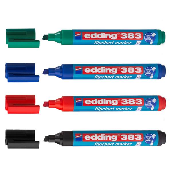 Маркер Edding 383 для флипчарта (клин, 1-5мм)  со скошенным пером и разным уровнем толщины линий