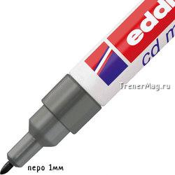 Тонкий стираемый маркер Edding чёрный 8500 (пуля, 1мм)