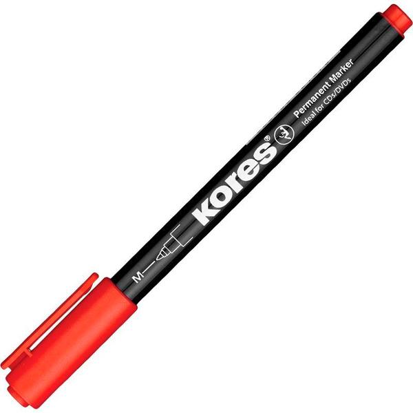 Перманентный маркер Kores М, 1мм (красный) для гармонизации в бизнесе