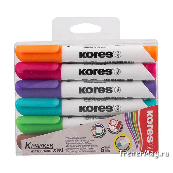 применение Набор маркеров Kores для белых досок (пуля, 6цв.) для работы на уроке