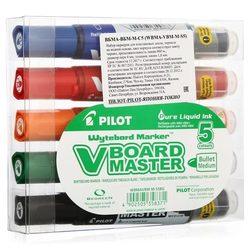 Набор маркеров Pilot для белых досок (пуля, 2-4мм, см.картридж)