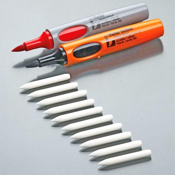 Запасные стержни Кисть для арт-маркеров, outliner (0,5-7мм) для тренинг-менеджеров
